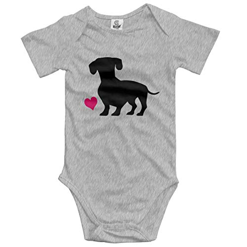 Pillowcase shop Kefdk Black Wiener Dog and Pink Heart Baby Short-Sleeve Bodysuit Baby Boys Girls 12 M (Surf-cookie-cutter)