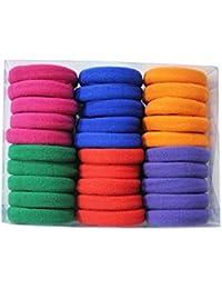 ForeignHolics Elastic Rubber Bands -Multicolor-Set Of 30