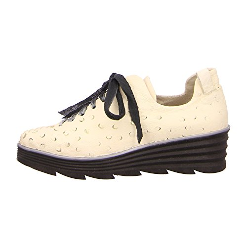 Papucei ANIELA BLACK, Scarpe stringate donna, bianco (white+black sole), 39