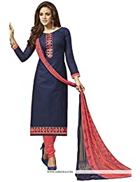 Radhey ArtsNew Designer Navy Blue And Gajri Color Jecard Dress Material With Matching Dupatta