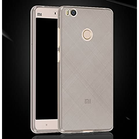 Prevoa ® 丨XIAOMI MI4S Funda - Transparent Silicona TPU Carcasa Funda Case cover para XIAOMI MI4S 4G 64bit 5.0 Pulgada Smartphone - Negro