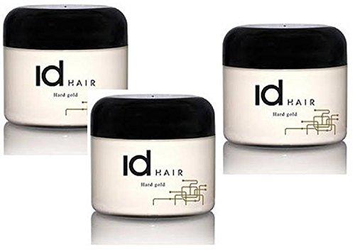 3x ID HAIR STYLING PASTE WAX WACHS HARD GOLD SUPER HALT 100 ml