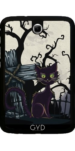 Galaxy Note 8 N5100 - Vintage Halloween-Friedhof Katze by Gatterwe ()