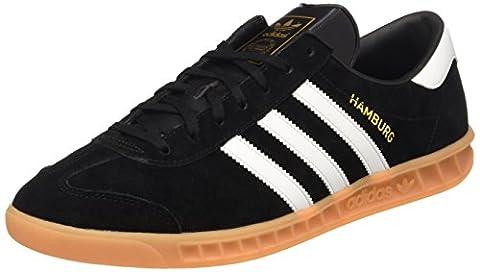 adidas Hamburg, Men's Low-Top Sneakers, Black (Core Black/ftwr White/gum), 10 UK (44 2/3 EU)