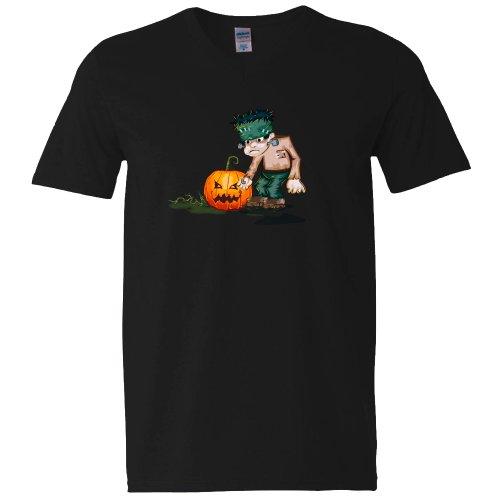 Collection 4 - Frankenstein Kürbis Herren schwarz XXL (Frankenstein Kostüme Männer)