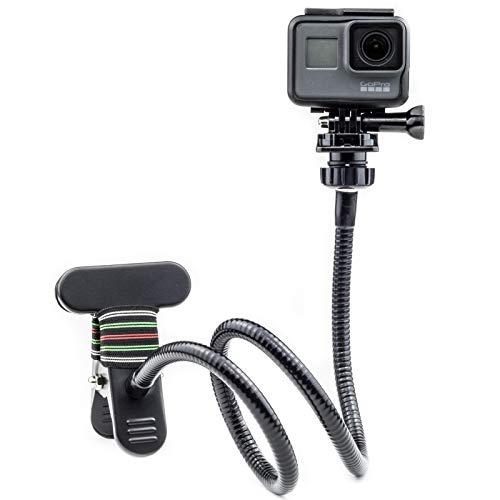 Digicharge Klemmhalterung Cliphalterung für GoPro Hero Akaso Crosstour Campark Fitfort Garmin VIRB Apeman Sony Camkong Motorola Victure Kitvision Nikon Action-Cam-Kamera mit Einer Länge von 72 cm
