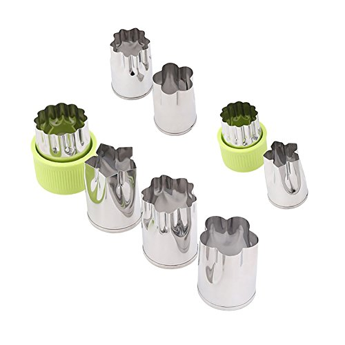 /Gemüseschneider Shapes Set (8ST), Keks/Bento/Käsepressen Mold dekorieren Werkzeuge für Kid Essen machen (4 große Blume Formen Cutter + 4 Mini Cutters 2 hat Kunststoffkappen) ()