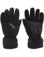 Guantes de esquí de invierno - YOPINDU cálido resistente al agua resistente al viento clima frío Deportes al aire libre de senderismo motociclismo snowboard guantes de esquí para las mujeres hombres (Negro, L)