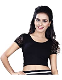 "Fressia Fabrics Women's Cotton Lycra Stretchable Readymade blouse XXL(38""-44"")"