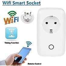 URANT Socket Wi-Fi con Control Remoto Inteligente, Temporizador y Puerto USB, Ofrece Aplicaciones Compatibles con Android e iOS Smartphone