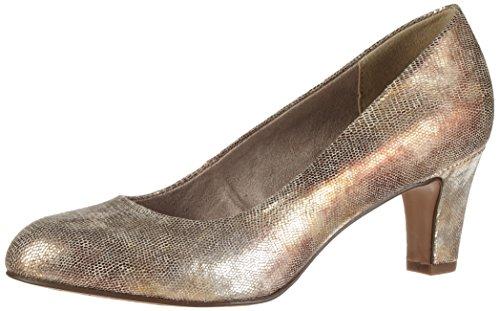 Tamaris Damen 22454 Pumps Gold (GOLD STRUCTURE 953)