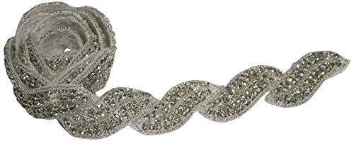 Die Schnalle Boutique Gorgeous Olivia von Hand mit Perlen und Strass Trim (Fringe Buckle)