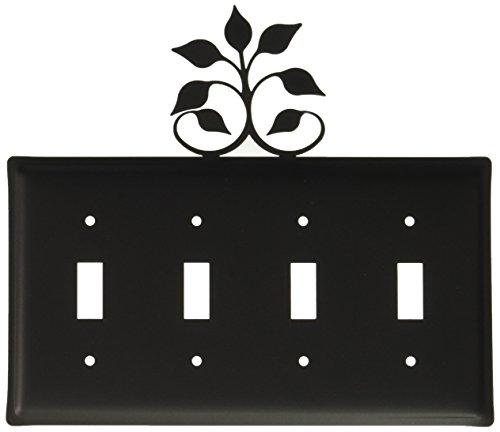 Leaf Wall Plate (21cm Leaf Fan Quadruple Switch Cover)