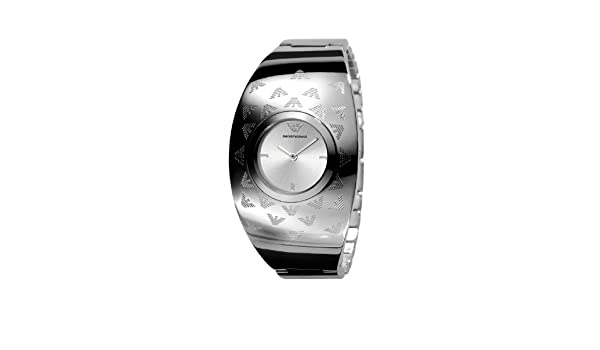 afbbe20e Emporio Armani Ladies Stainless Steel Half Bangle with Logo ...