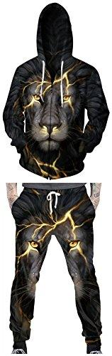 TDOLAH Herren Fitness Jogginghose Jogginganzug Trainingsanzug Casual Sweatshirt mit Kapuze Jacken (M, 001-Hose)