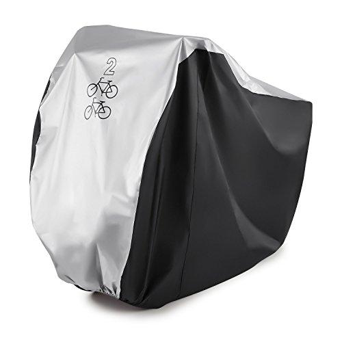 Gofriend para 2bicicleta cubierta impermeable doble 2bicicleta ciclo Scooter lluvia y polvo resistente a UV Protección ideal para Mountain Road, eléctricas y bicicletas Cruiser