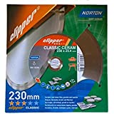Norton Clipper Classic Ceram Disque diamant 230 x 25,4 mm