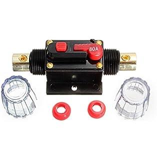 80 Amp AGU Typ-Sicherungen f/ür Auto-Audio//Alarm//Verst/ärker//Kompressoren Carviya 4-8 AWG Inline wasserdichter Sicherungshalter mit Zwei 30 Amp