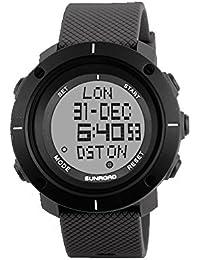 2017 Sunroad nueva llegada de los hombres del deporte del reloj Digital horas para Running Natación Resistente al agua 50 m cronómetro temporizador FR1001A color gris …