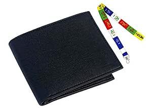Friends Artificial Leather Men's Slim Wallet and Tibetan Ladakh Prayer ID Tag & Keychain