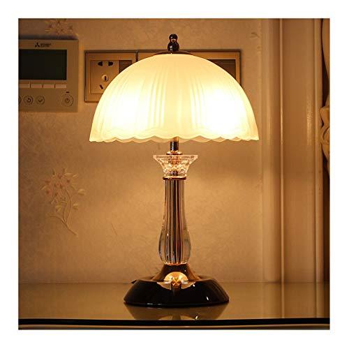 Lampe de table Chambre Lampe de bureau Salon Décor Abat-jour en verre Designs simples Décoration rustique