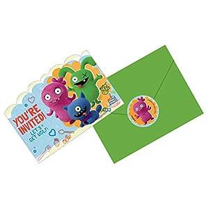 Amscan International Amscan 490167 - Tarjetas postales impresas (8 unidades), diseño de muñeca fea