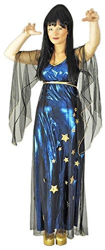Kostüm Magierin Elvira Gr. 44 (Kostüme Erwachsenen Wahrsagerin)