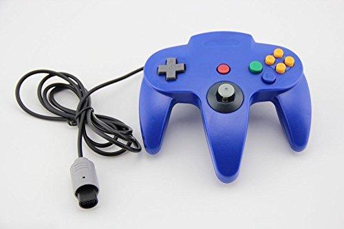 Althemax® N64 Blau Stiel Game Controller Steuerung Remote Pad Joystick Fit für Nintendo 64-System (Nintendo 64-controller Blau)