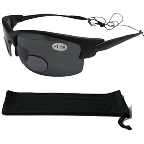Nero con lenti bifocali occhiali da sole polarizzati Pesca Vela Sport 100% Protezione UV 160+ 3.00Occhiali mondo Eye