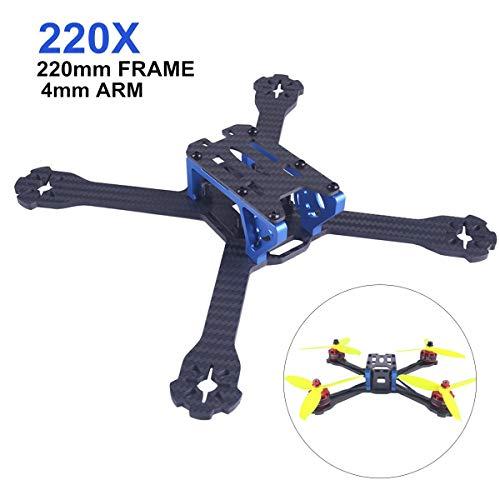 Crazepony-UK 220mm FPV Racing RC Drone Frame Kit 3mm Arm Carbon Fiber for Brushless Motor 2205-2306