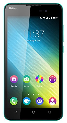 Wiko Lenny 2 Smartphone (12,4 cm (5 Zoll) IPS-Display, 1,3 GHz Quad-Core Prozessor, 8GB interner Speicher, 1GB RAM, Android 5.1 Lollipop) türkis
