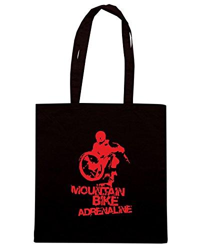 T-Shirtshock - Borsa Shopping TB0093 mountain bike adrenalina Nero