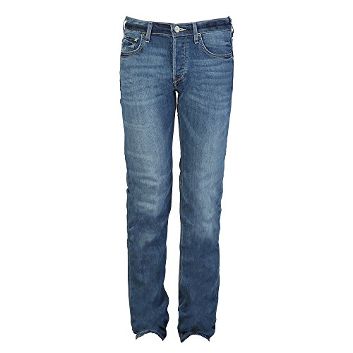 Lee Mens Powell - Jeans Low Slim Chiari - Uomo (30) (Blu Acciaio)