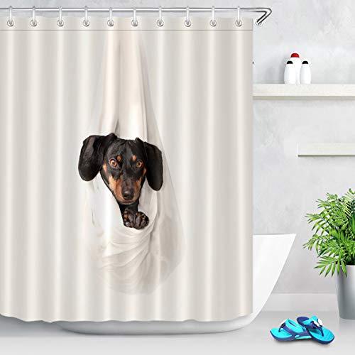 caichaxin Lindo y Divertido baño para Perros Cortina de Ducha Hermosa y ecológica Impermeable y portátil