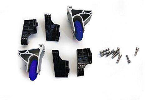 Reifen - Ninebot Lern/Stabilisations-Rollen für Gyroroue One, grau/schwarz/blau