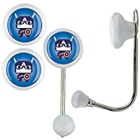 3X White Clothes Hook Single KH006 _ KHE06 W Design for Children