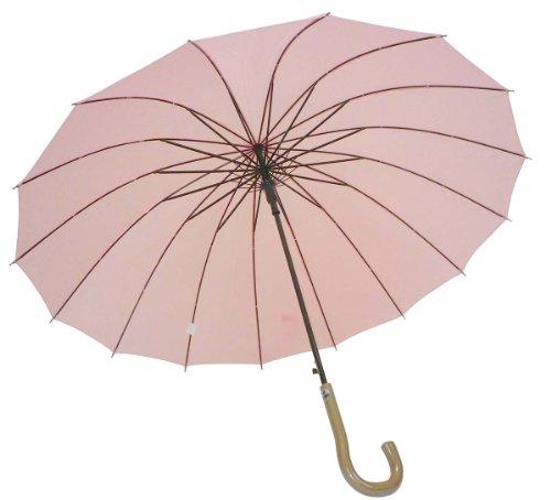 16-ossa-saltano-ombrello-pianura-rosa-53043-58-centimetri-tocco-venatura-del-legno-japan-import
