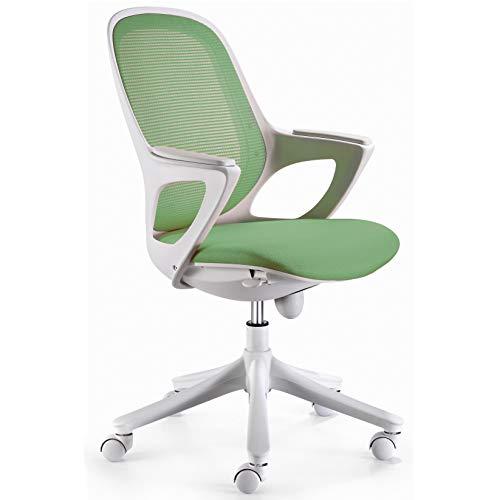 FineBuy Bürostuhl Mali Grün Stoff Schreibtischstuhl Drehstuhl Bürosessel mit Armlehnen