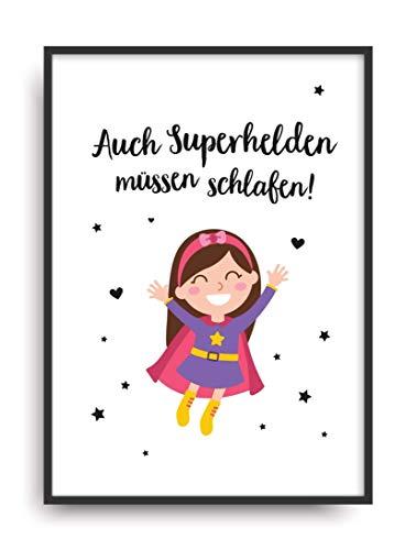 Fine Art Kunstdruck SUPERHELD 2 Poster Print Plakat moderne Vintage Deko Bild ohne Rahmen DIN A4 Geschenk