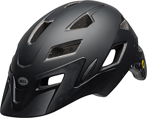 Bell Unisex Jugend SIDETRACK Youth MIPS Fahrradhelm, mat Black/Silver, Unisize