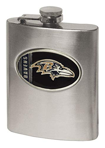 Simran International NFL Flachmann, Baltimore Ravens, 8-Ounce
