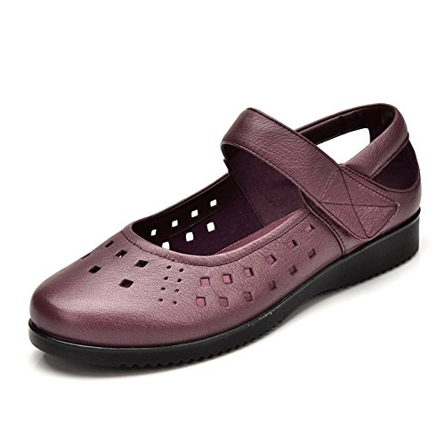 mère en chaussures d'été/Femmes sandales plates/Coupe basse chaussures Velcro B