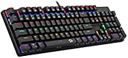 Redragon K208 Mechanical keyboard with Rainbow backlight conflict free 104 keys Wired USB Gaming keyboard