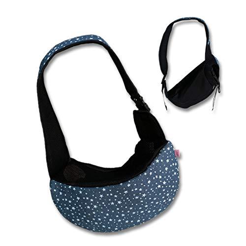 WENFF Haustier Rucksack Hund Tasche Katze Hund Tasche Haustier Tragetasche Canvas Tasche,Denimfive-Star - Star Canvas-tasche