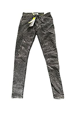 Adidas Neo Womens Denim Faded Black Super Skinny Jeans W28 L30