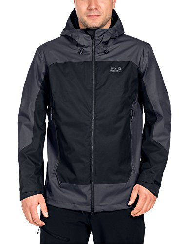 Jack Wolfskin Herren North Slope Men Wetterschutzjacke, Black, XXL