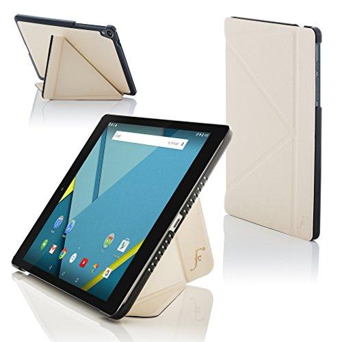 ogle Nexus 9 8.9 Zoll Origami Hülle Schutzhülle Tasche Bumper Folio Smart Case Cover Stand - Rundum-Geräteschutz und intelligente Auto Schlaf/Wach Funktion (WEIß) ()