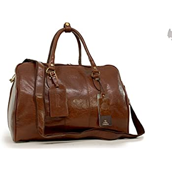 MENS LEATHER HOLDALL LUXURY TRAVEL BAG GYM SPORTS BAG LADIES ...