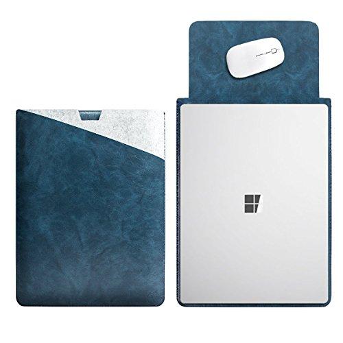 WALNEW 13.5 Microsoft Surface Laptop 2017 13.5 Zoll Schutzh¨¹lle, H¨¹lle, Case, Cover, mit Zwei-Taschen-Design mit Gesch¨¹tztem Inneren und Externem Mousepad