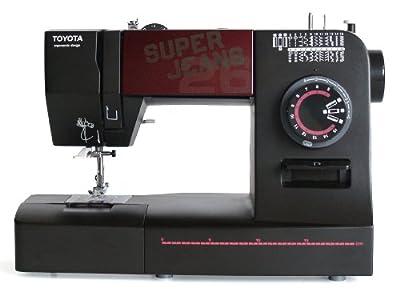 Máquina de coser Toyota SUPERJ26 Allround (brazo libre, 26 programas y utilidad para vaqueros)